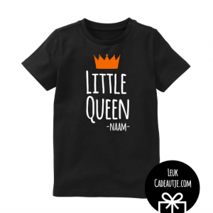 koningsdagshirtje little queen zwart