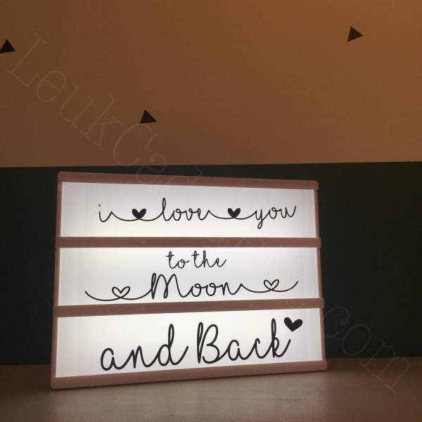 Lightbox stickerset love you to the moon and back