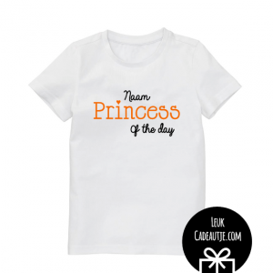 koningsdagshirtje princess of the day wit